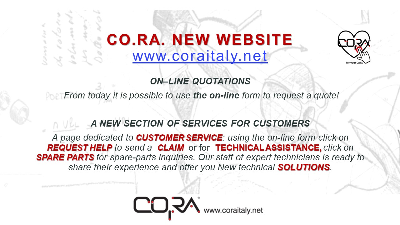 NEW CO.RA. WEBSITE ON-LINE